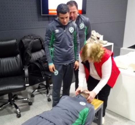 Обучиха треньорите в Лудогорец да оказват първа помощ