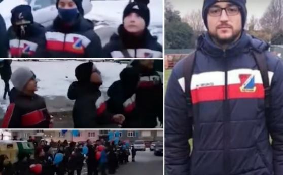 Деца от Перник пяха под прозореца на болния си от Covid-19 треньор (видео)